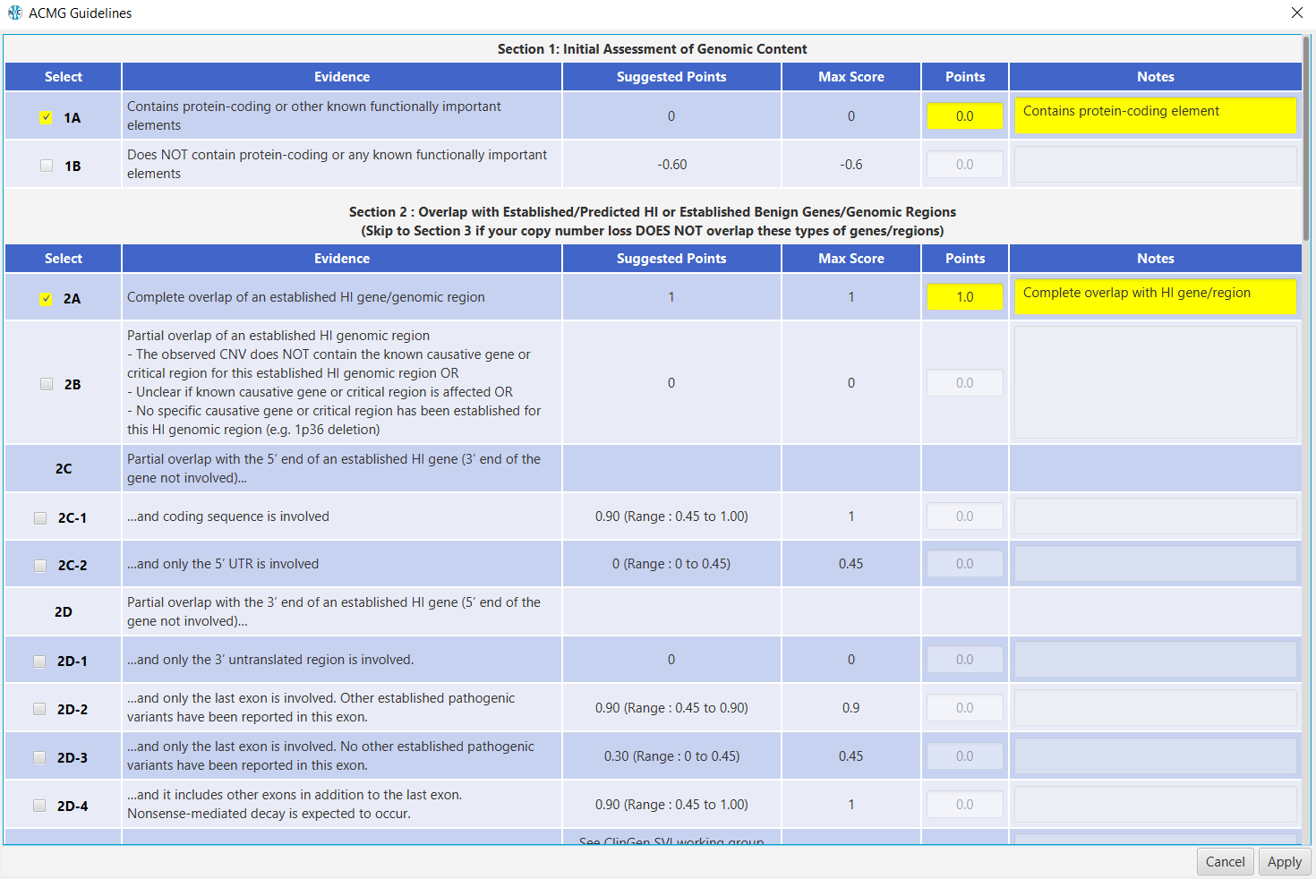 expanded ACMG guidelines